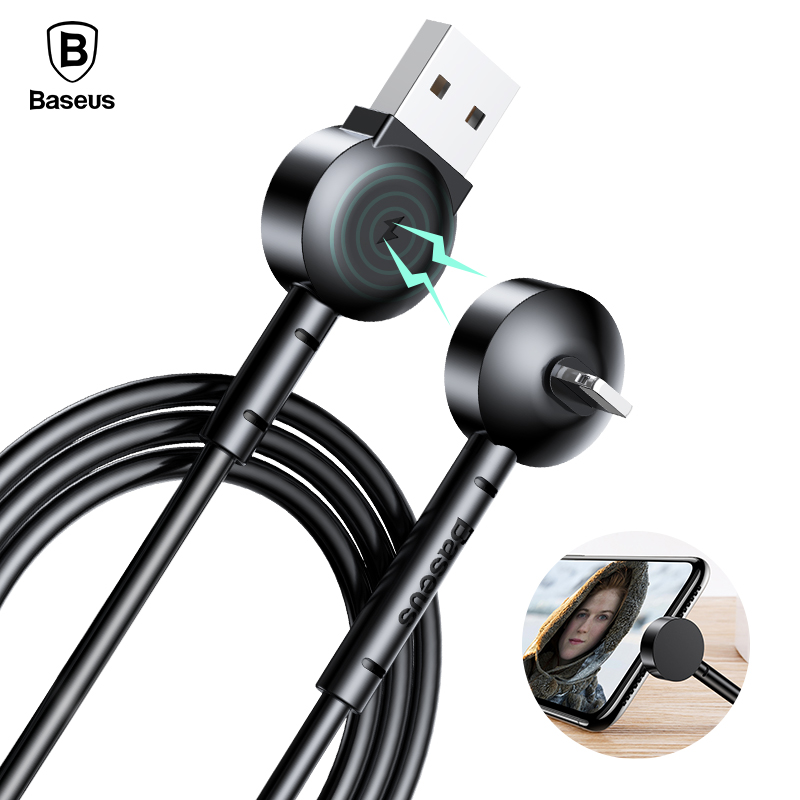 Baseus Magnetic USB Cable Phone Holder For iPhone X 8 7 6 Plus 5 s se Fast Data Sync Charging Charger Cable Mobile Phone Cables