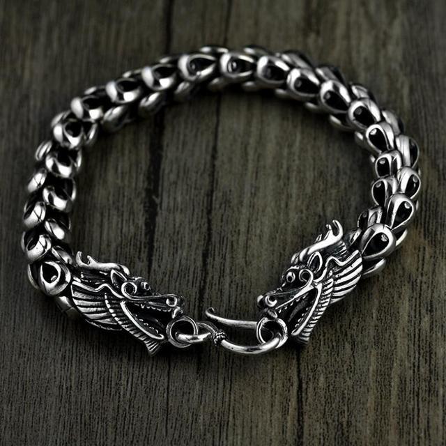 Thai silver jewelry 925 sterling silver dragon bracelet male domineering personality retro fashion Chain & Link bracelets