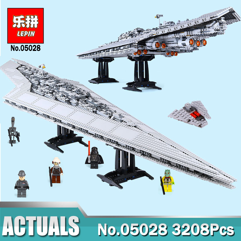 Lepin 05028 Star In Wars Execytor Super Star Destroyer Set Building Blocks Toy Compatible LegoINGlys 10221 Destroyer lepin 05028 star 3208pcs toy wars execytor super star destroyer model building kit block brick compatible 10221 boy gifts