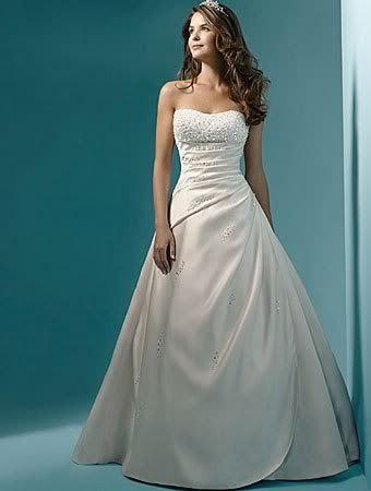 Vestidos-de-noiva-Cheap-Price-2015-Free-Shipping-Pearl-A-line-Strapless-Train-White-Ivory-Wedding (1)