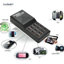 Go2linK New 12 Port 5V Output Max 3.5A Charging HUB Multipe USB Desktop Fast Charger For Smart Phone Tablet PC iPod Top Quality