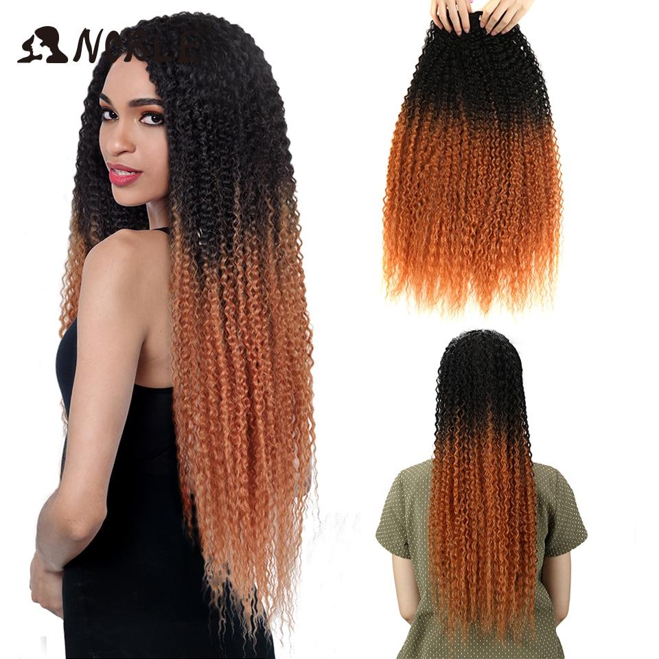 Asil Sapıkça Kıvırcık ombre saç demetleri Sentetik Saç Kıvırcık Örgü Süper Uzun 1 Adet 28