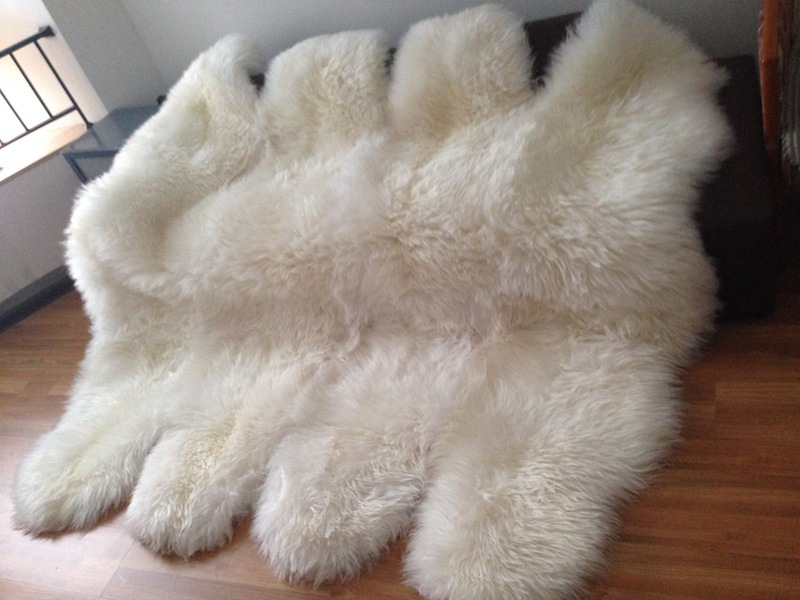 Online Shop 8P Nature White 185*200cm Plush Wool Genuine Lambskin Real Sheepskin  Rug,Sheep Skin Fur Carpet,Free Shipping | Aliexpress Mobile