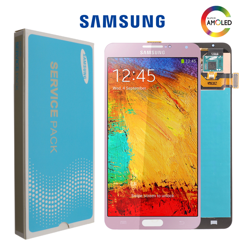 ORIGINELE 5 7 SUPER AMOLED For SAMSUNG Galaxy Note3 Touch Screen Note 3 N9005 N900 N900