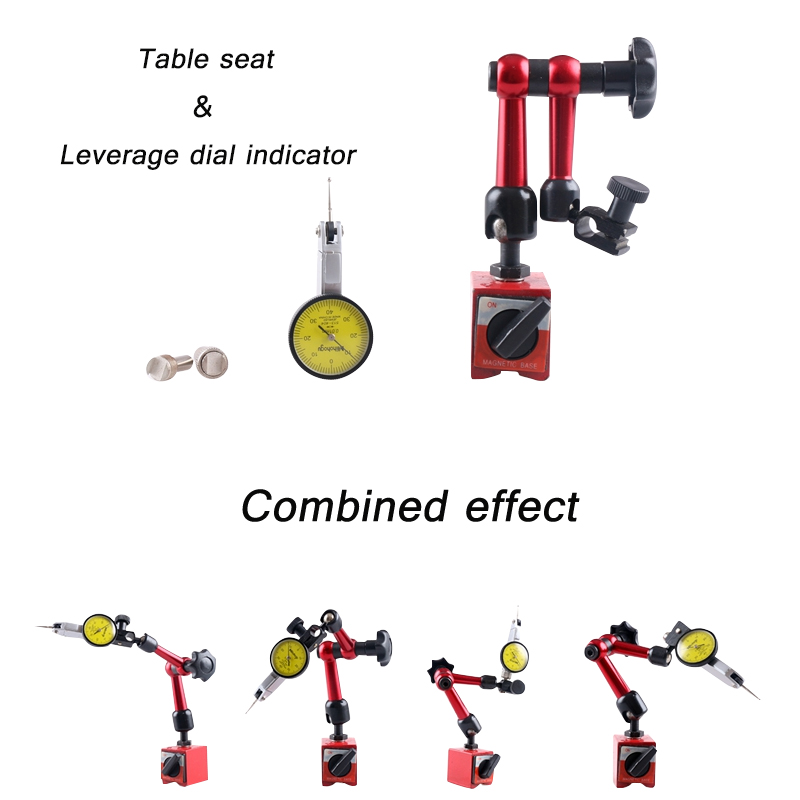 Dial Test Indicator Gauge Universal Magnetic Base Holder Stand Table Scale Precision Indicators Center Finder Measurement