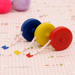 Beautiful Retractable Type Plastic Tape Measure Small Amount Of Clothing Size Home Pocket Ruler
