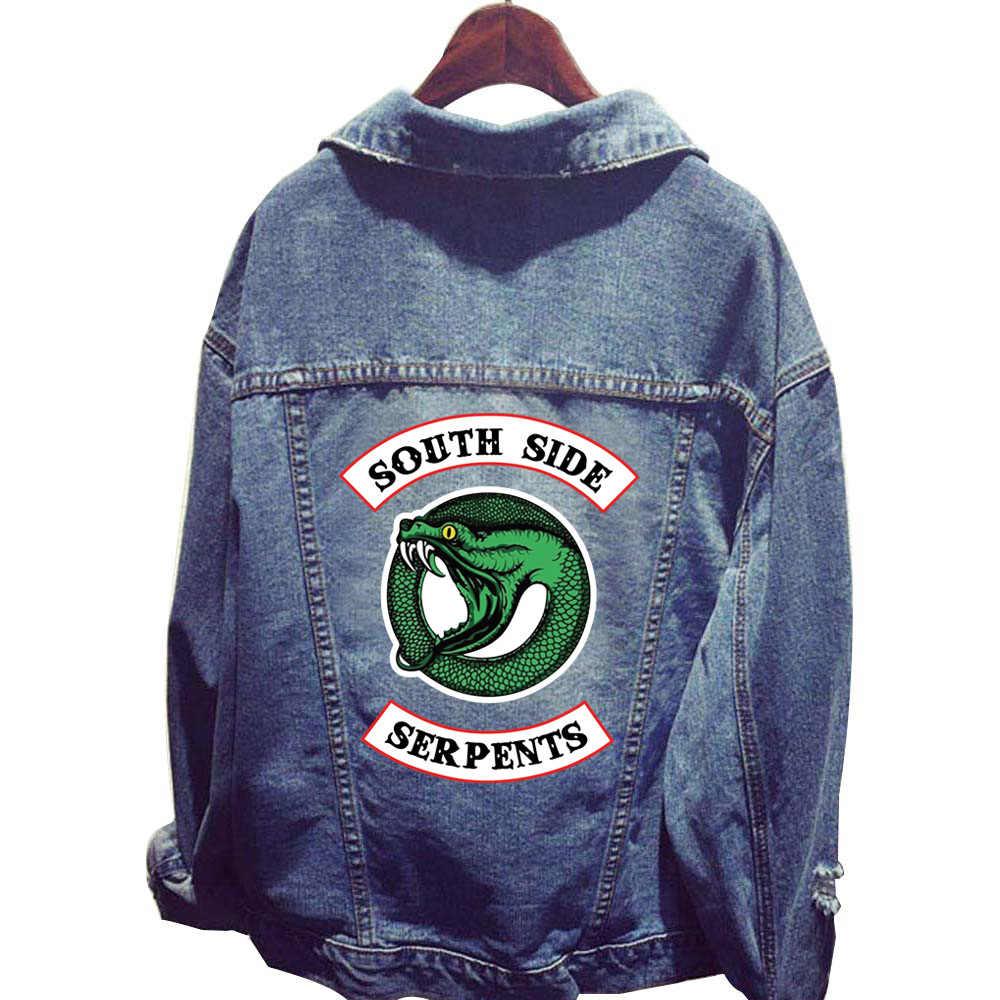 New Fashion Riverdale South Side Serpents Clothes Women Denim Jacket Hole Coat Female Baseball Hoodie Outerwear Tops Sweatshirts