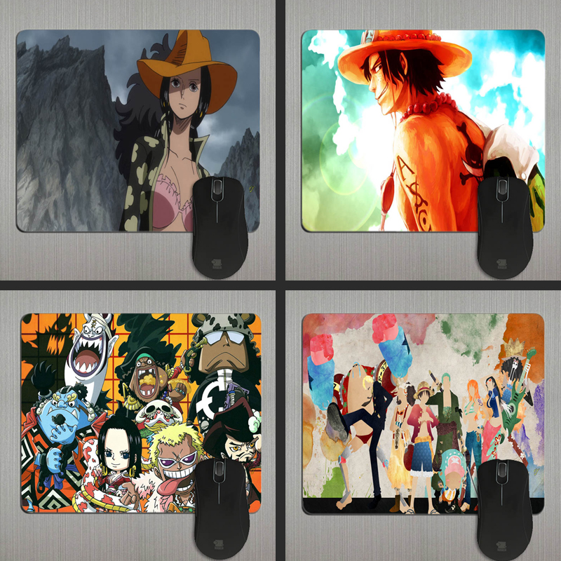 Cute Anime Monkey D Luffy One Piece Series Mouse Mats Anti-slip Rectangle Mouse Pad Customized Supported Durable Anti Slip Mouse Pads