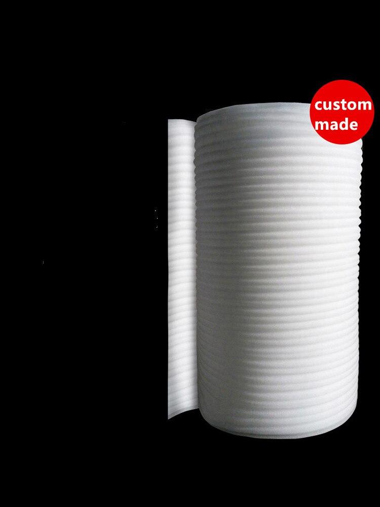 Tampon Anti-vibration sur mesure pour Membrane de coussin d'air EPE, mousse d'emballage en polystyrène expansé 0.5/1/2/3/5mm x 50 cm blanc épais