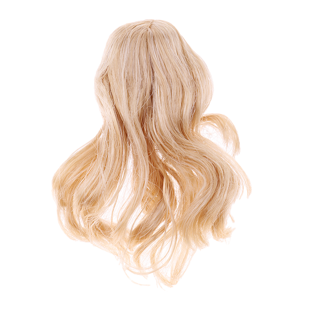Kumik 1//6 Female Gold long Hair Wig for Head Sculpt