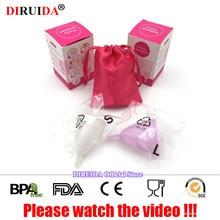 лучшая цена 100% Original Reusable Menstrual Cup Vaginal Care Cup Feminine Hygiene Product Women Menstruation Medical Grade Silicone Cup
