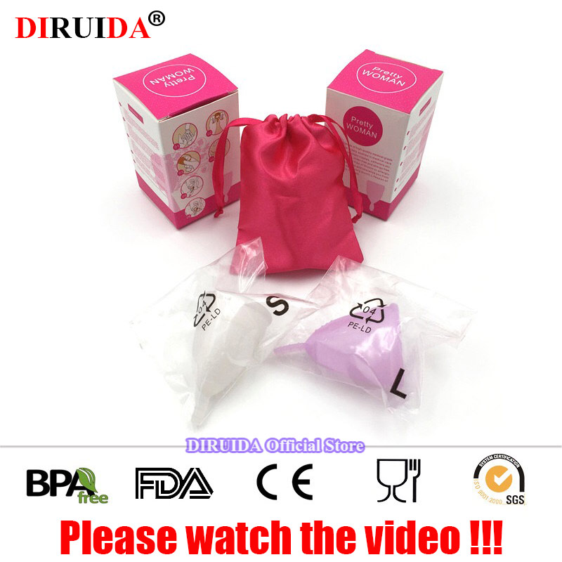 100% Original Reusable Menstrual Cup Vaginal Care Cup Feminine Hygiene Product Women Menstruation Medical Grade Silicone Cup