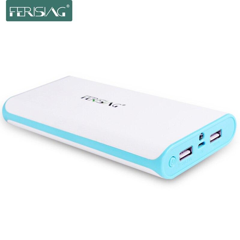 Цена за Ferising Настоящее 20800 мАч Power Bank Внешний 18650 Литиевая Батарея 20000 мАч + Открытый Портативный Powerbank Зарядное Устройство Для xiaomi
