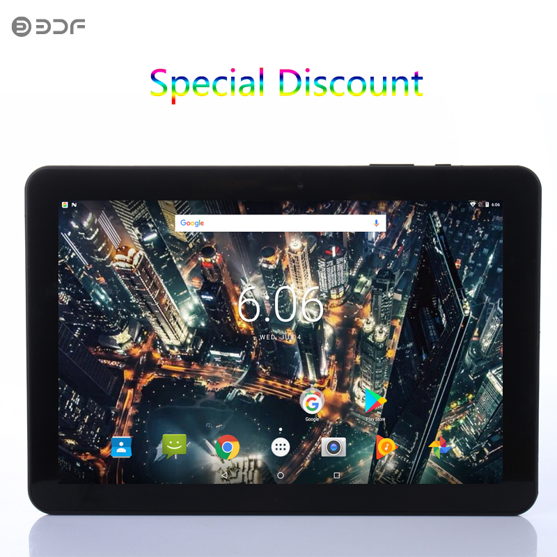 2019 New 10 Inch Android 7.0 Quad Core Tablet Pc 1GB RAM 32GB ROM Android Tablets Support Googe WiFi Bluetooth IPS HD Screen Tab