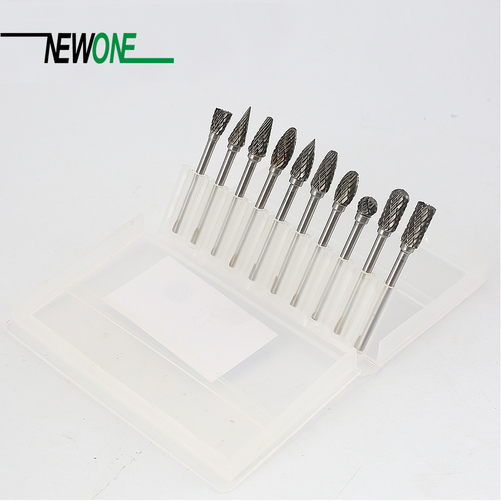 Tungsten Carbide Rotary Burrs 10PCS Milling Cutter Engraving Bits Mini Drill Rotary Tool Accessories hot sale20 x tungsten steel solid carbide burrs for rotary drill die grinder carving