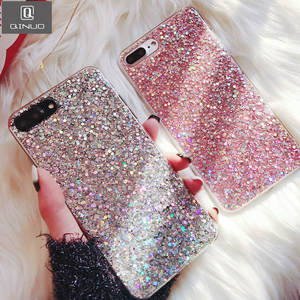 QINUO Silicone Phone Case For Huawei honor 8 8X9 Lite 10 V10 Bling Epoxy Back Cover