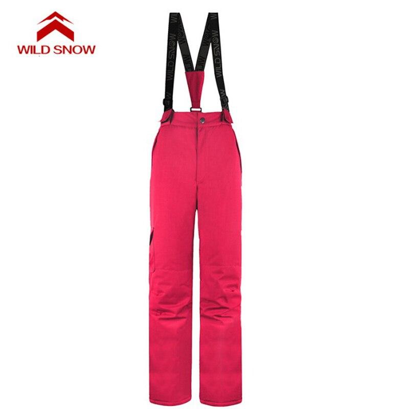 Pantalon de Ski hydrofuge femme hiver sports de plein air snowboard bavoir salopette pantalon coupe-vent Ski des neiges pantalon S-XXL - 2