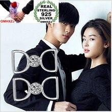 OMHXZJ big brands Wholesale Fashion Star style jewelry bowknot AAA zircon Real 925 sterling silver Stud Earrings YS105