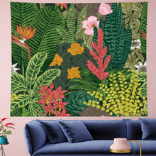 цена Nordic Style Summer tropical flower  plantain macrame Tapestry Vintage Retro Polyester Tapestries Wall Hanging home decor онлайн в 2017 году