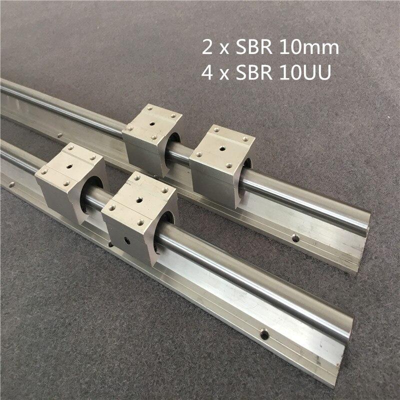 2 x SBR16-1550mm 16MM FULLY SUPPORTED LINEAR RAIL SHAFT 4 SBR16UU Block