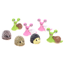 2 pattern Cute Kawaii Cartoon Lazy Snails/Hedgehogs for Micro Landscape Home Garden Decor Hot Sale