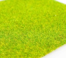 R-138  grass nylow with paper sheet, green lawn greensward