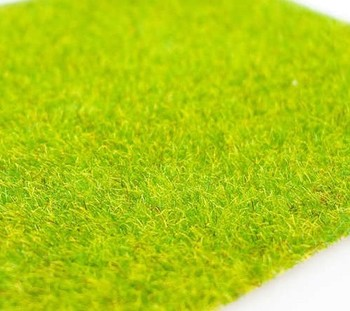R-138  grass mat.flock nylow with paper sheet, green lawn  greensward