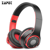 ZAPET Wireless Bass Stereo Headphones With Mic Bluetooth Headset Foldable Bass Headphone Noise Cancelling Support SD