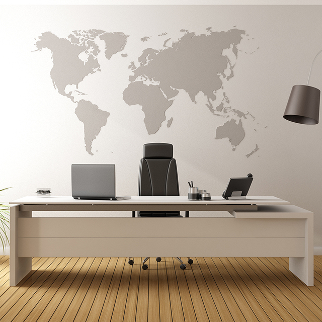 Cartoon World Map Wall Stickers 250cmx145cm World Map Wall Decals Office  Restroom Living Room Mural Easy