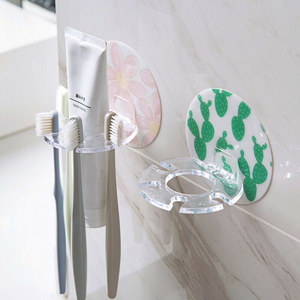 1PC Cactus Plastic 5 Racks Toothbrush Holder Toothpaste Storage Rack Shaver Tooth Brush Dispenser Home Bathroom Wall Mount