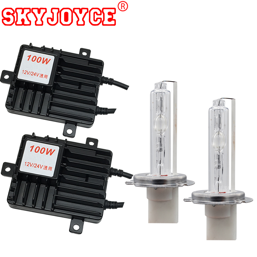 SKYJOYCE Truck Boat Car 12V 24V HID Headlight KIT Xenon 24V H3 H11 H4 bixenon HID Xenon H7 white 4300K-8000K 100W H1 xenon bulb name it леггинсы name it для девочки