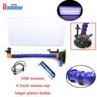USB draadloze LED Lamp PDR Dent Repair Tools LED Licht Reflectie Board met Verstelbare Houder 4.5 inch zuignap Hand tool Set-in Handgereedschapssets van Gereedschap op
