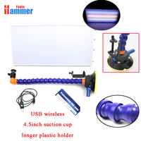 USB wireless LED Lamp PDR Dent Repair Tools LED Light Reflection Board with Adjustable Holder 4.5 inch suction cup Hand Tool Set