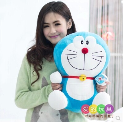 about 50 cm smiley expression Doraemon plush toy lovely doraemon doll throw pillow gift w5787 lovely giant panda about 70cm plush toy t shirt dress panda doll soft throw pillow christmas birthday gift x023