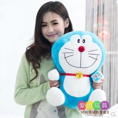 about 50 cm smiley expression Doraemon plush toy lovely doraemon doll throw pillow gift w5787