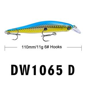Image 4 - Proberos Fishing Lures 11cm Fishing Bait 11g Minnow Bait 6 Color Fishing Tackle 6# Hook Fishing Tackle Swimbait