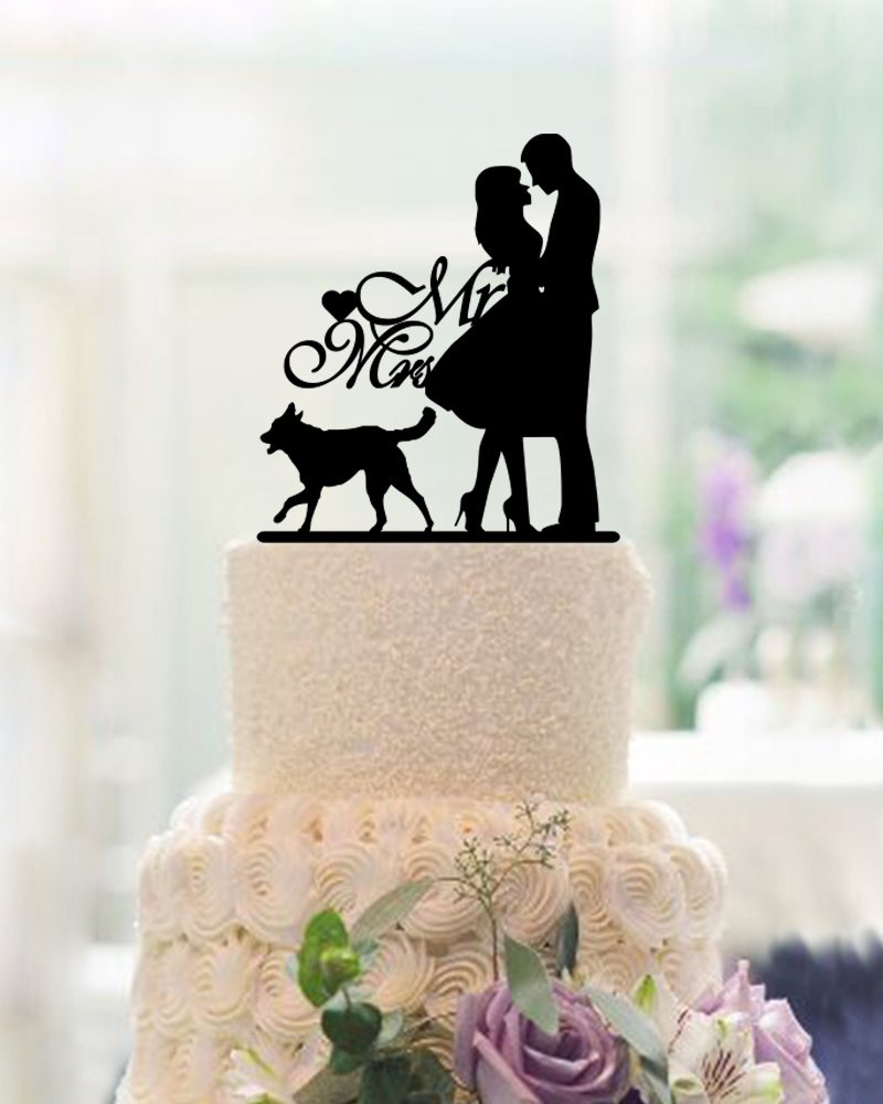 Wedding Unique Cake Toppers compare prices on unique cake toppers online shoppingbuy low bride and groom wedding cute dog acrylic personalized party decoration for