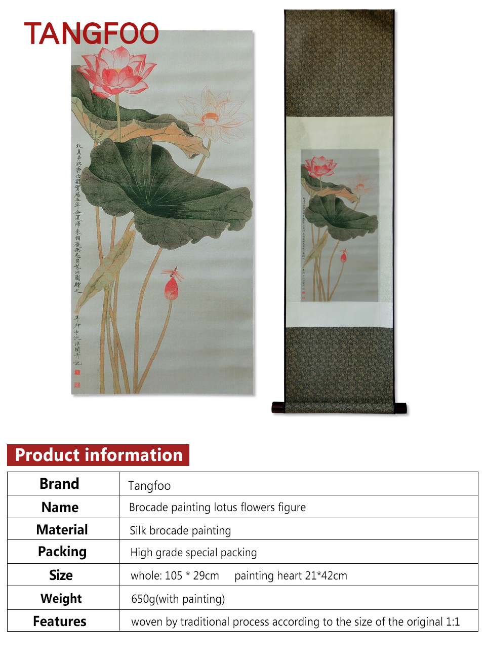Three dimensional silk brocade painting lotus flower diagram drawing 01 izmirmasajfo