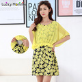Maternity Dresses Floral Printing Nursing Dress Pregnancy Clothes for Pregnant Women Summer Breastfeeding Clothing for Feeding
