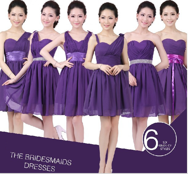 Popular Eggplant Purple Bridesmaid Dresses-Buy Cheap Eggplant ...