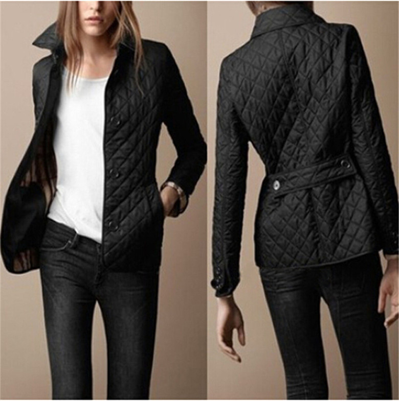 ФОТО 2016 New Fashion Short Patchwork Women Parkas shirt collar loose long sleeve Single Breasted Slim jacket winter outwear coat