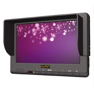 Lilliput 7 Inch 667GL-70NP/H/Y/S HDMI Monitor With Ypbpr,3G-SDI, HDMI, Component Video Inputs lilliput 663 s2 7 inch led field monitor with 3g sdi hdmi ypbpr via bnc composite video and sun hood optimised for full hd
