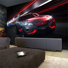 Free Shipping 3D stereo Car wallpaper mural theme hotel restaurant KTV bar hotel office sofa background wallpaper(China (Mainland))