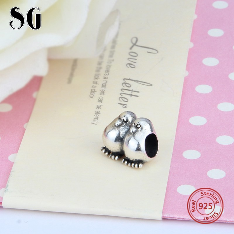 Loves Bead Silver 925 original Sterling Silver Symbol Mandarin Duck Charms Fit Style DIY Silver Jewelry Bracelets bead in Beads from Jewelry Accessories