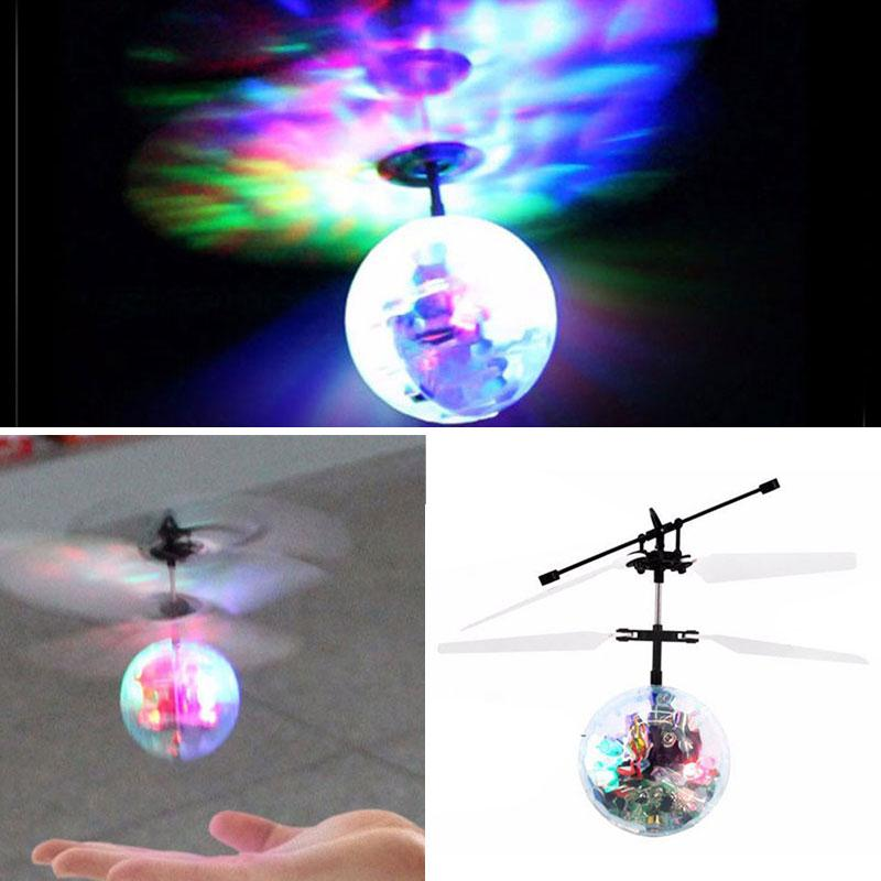 RC Flight Flying Ball Infrared Induction Drone Helicopter Aircraft Built-in Shinning LED Flashing RC Toys For Kids