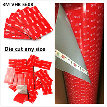 Factory Direct sales 10pcs/lot 3m vhb tape 5608 A Gray Heavy Duty Mounting Double Sided Adhesive Acrylic Foam Tape Die Cut цена и фото