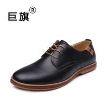 2017 fashion men casual shoes new spring men flats lace up male business oxfords men leather shoes zapatillas hombre