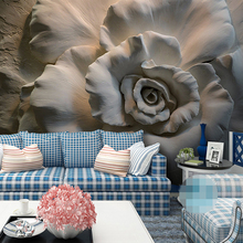 3D Wallpaper Relief Rose Flower