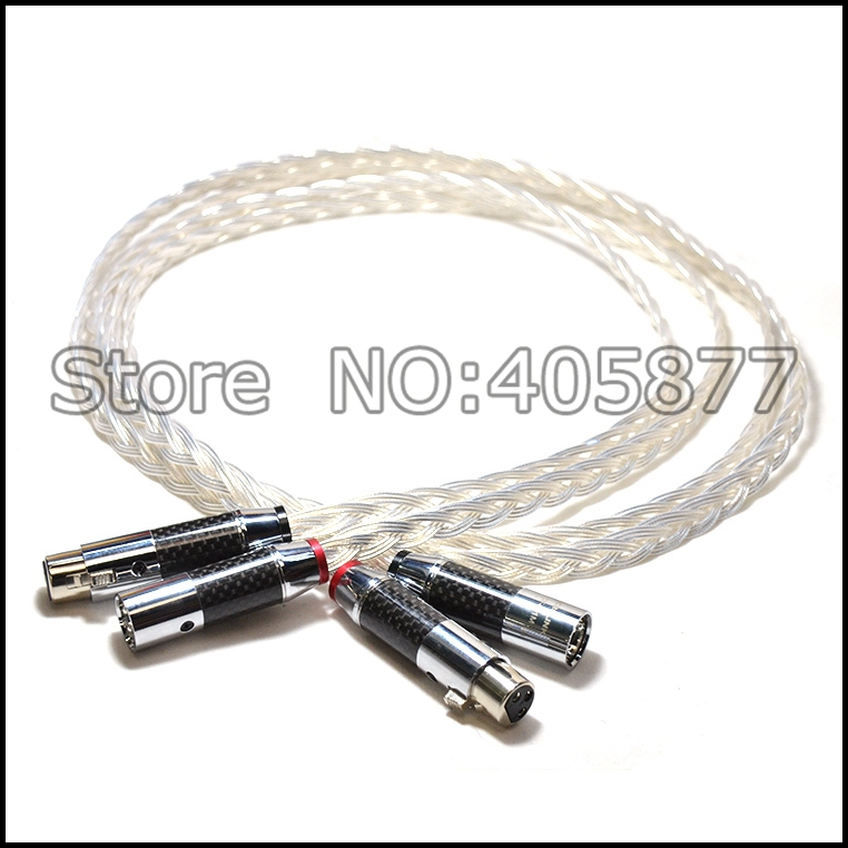 Pair High perfomance silver plated XLR Balanced audio video cable 1M