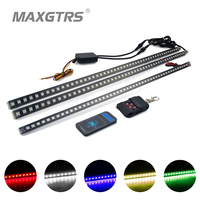 20Modes IP68 Waterproof 56CM 48LED Bar Light 5050 Car LED Knight Rider Lights With Infrared Remote